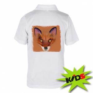 Dziecięca koszulka polo Fox on an orange background - PrintSalon