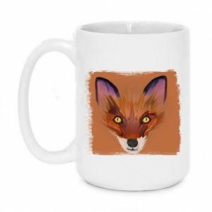 Kubek 450ml Fox on an orange background - PrintSalon