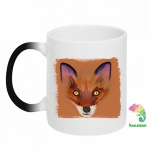 Kubek-kameleon Fox on an orange background