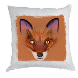 Poduszka Fox on an orange background