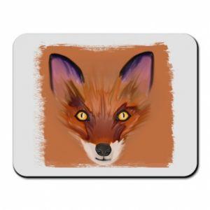 Podkładka pod mysz Fox on an orange background - PrintSalon