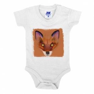 Body dla dzieci Fox on an orange background - PrintSalon