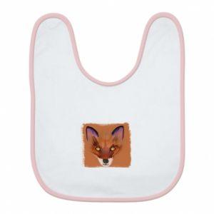 Śliniak Fox on an orange background - PrintSalon