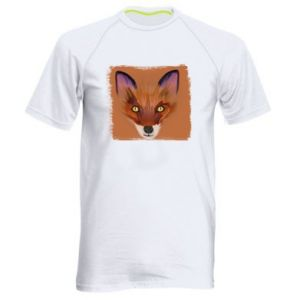 Koszulka sportowa męska Fox on an orange background