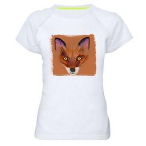 Koszulka sportowa damska Fox on an orange background