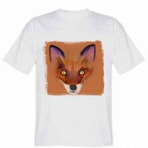T-shirt Fox on an orange background