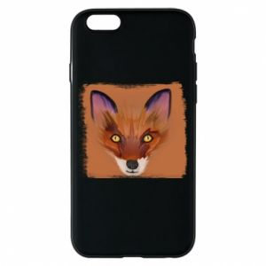 Etui na iPhone 6/6S Fox on an orange background