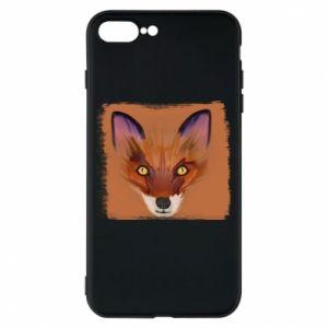 Etui do iPhone 7 Plus Fox on an orange background