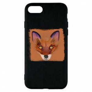 Etui na iPhone 8 Fox on an orange background
