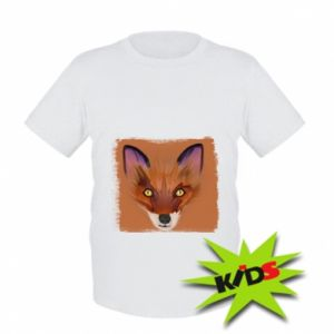 Dziecięcy T-shirt Fox on an orange background