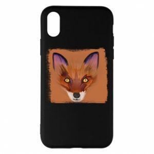 Etui na iPhone X/Xs Fox on an orange background