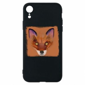 Etui na iPhone XR Fox on an orange background