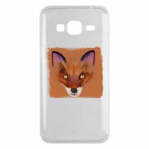Etui na Samsung J3 2016 Fox on an orange background