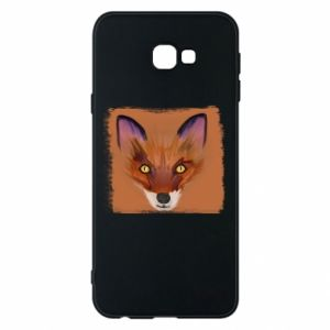 Etui na Samsung J4 Plus 2018 Fox on an orange background