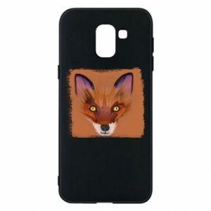 Etui na Samsung J6 Fox on an orange background