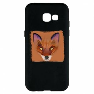 Etui na Samsung A5 2017 Fox on an orange background