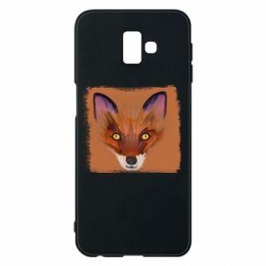 Etui na Samsung J6 Plus 2018 Fox on an orange background