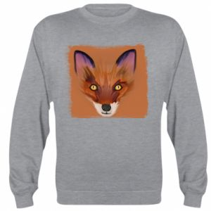 Bluza (raglan) Fox on an orange background - PrintSalon