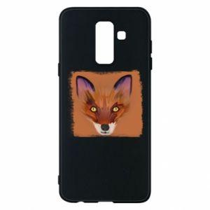 Etui na Samsung A6+ 2018 Fox on an orange background