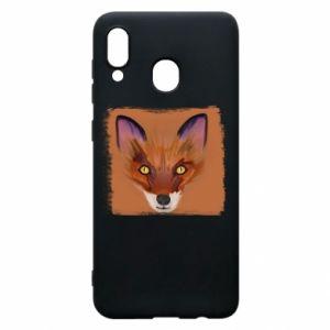 Etui na Samsung A20 Fox on an orange background