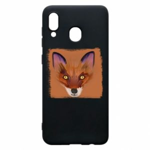 Etui na Samsung A30 Fox on an orange background