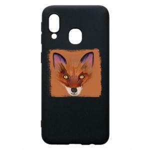 Etui na Samsung A40 Fox on an orange background