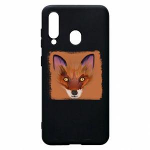 Etui na Samsung A60 Fox on an orange background