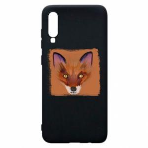 Etui na Samsung A70 Fox on an orange background