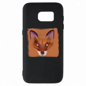 Etui na Samsung S7 Fox on an orange background
