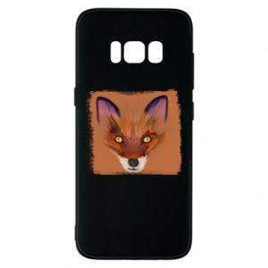 Etui na Samsung S8 Fox on an orange background
