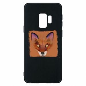 Etui na Samsung S9 Fox on an orange background