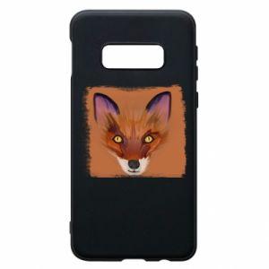 Etui na Samsung S10e Fox on an orange background