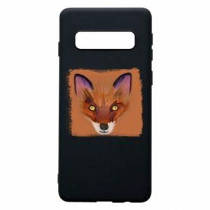 Etui na Samsung S10 Fox on an orange background