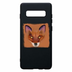 Etui na Samsung S10+ Fox on an orange background