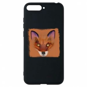 Etui na Huawei Y6 2018 Fox on an orange background