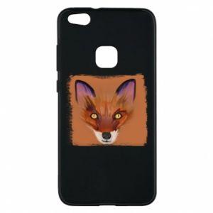 Etui na Huawei P10 Lite Fox on an orange background