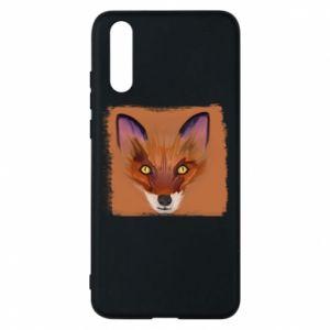 Etui na Huawei P20 Fox on an orange background