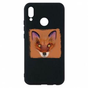 Etui na Huawei P20 Lite Fox on an orange background