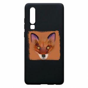 Etui na Huawei P30 Fox on an orange background