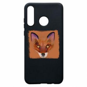 Etui na Huawei P30 Lite Fox on an orange background