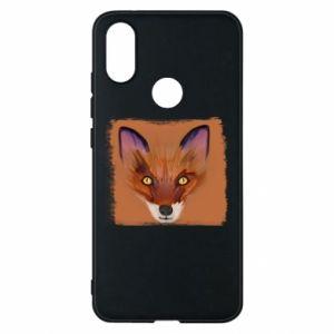 Etui na Xiaomi Mi A2 Fox on an orange background