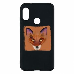 Etui na Mi A2 Lite Fox on an orange background