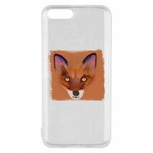 Etui na Xiaomi Mi6 Fox on an orange background
