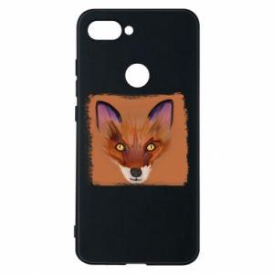 Etui na Xiaomi Mi8 Lite Fox on an orange background