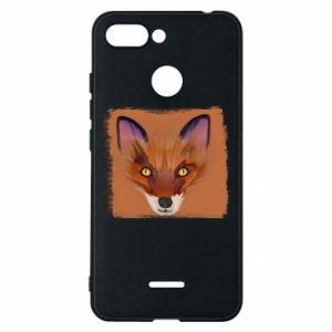 Etui na Xiaomi Redmi 6 Fox on an orange background