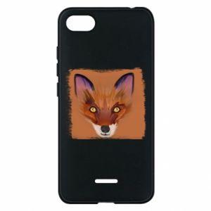 Etui na Xiaomi Redmi 6A Fox on an orange background