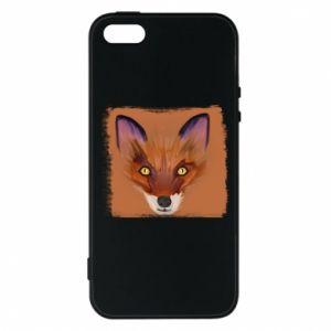 Etui na iPhone 5/5S/SE Fox on an orange background