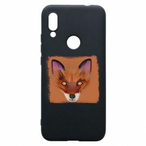 Etui na Xiaomi Redmi 7 Fox on an orange background
