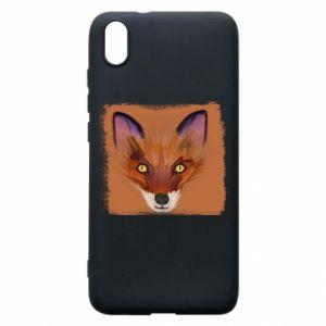Etui na Xiaomi Redmi 7A Fox on an orange background