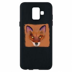 Etui na Samsung A6 2018 Fox on an orange background